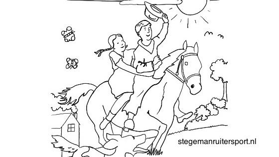 Paarden kleurplaten op Stegeman Ruitersport