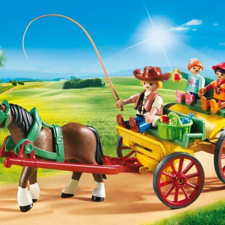PLAYMOBIL Paard en kar - 6932