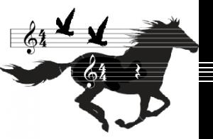 paard pony muziek noten vogel