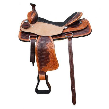 westernzadel lichtbruin pony paard