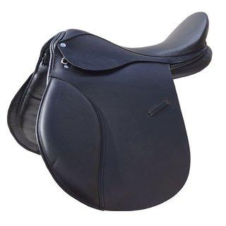 """veelzijdigheidszadel zwart paard pony 18"""""""